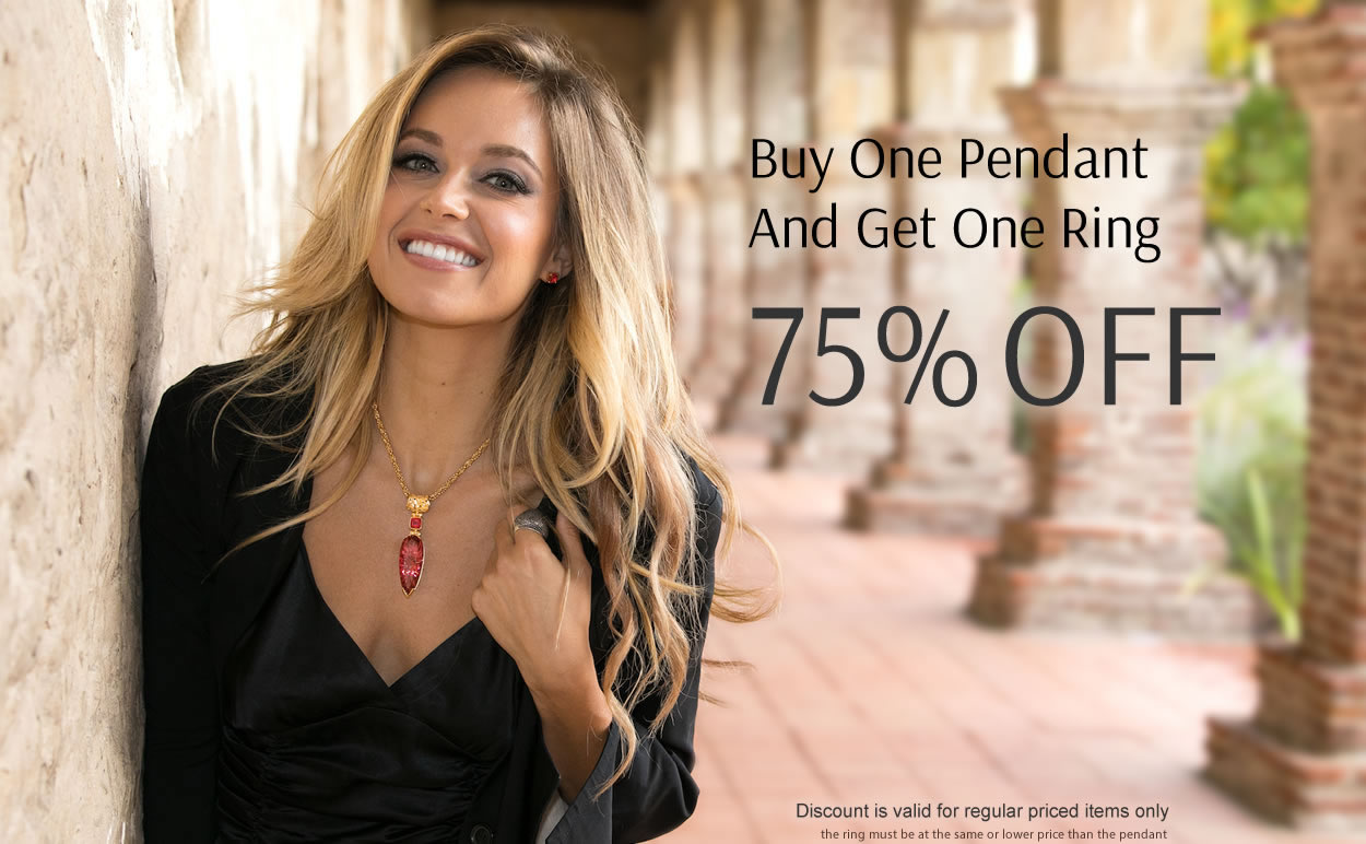 Buy One Pendant and Get One Ring 75% OFF
