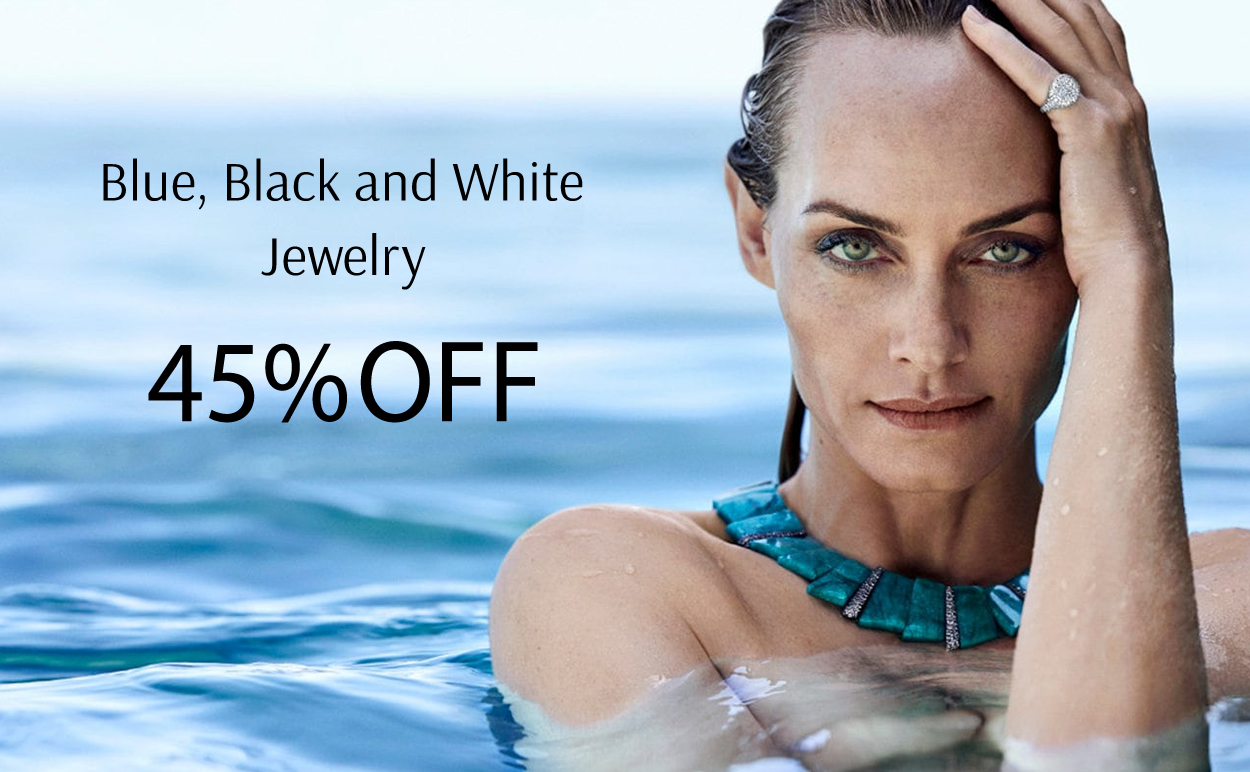 Blue, Black & White Jewelry 45% OFF