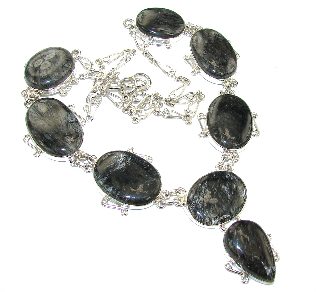 Secret Beauty AAA Tourmalinated Quartz Sterling Silver necklace