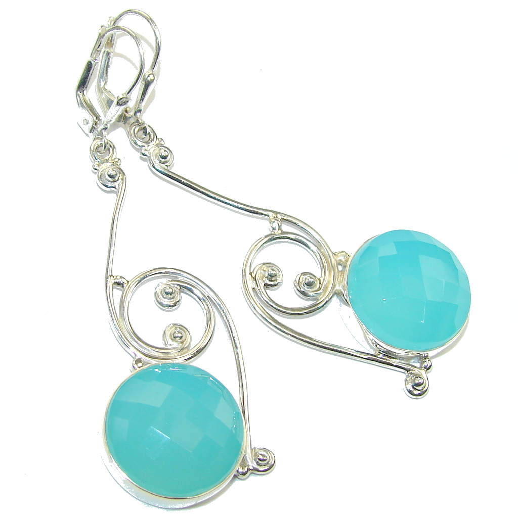 jewelry image gold ctw genuine aquamarine ref rose earrings