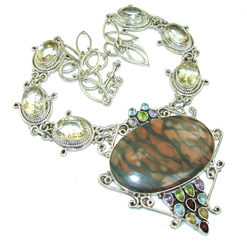 Big! A sense of Nature Noreena Jasper Sterling Silver necklace