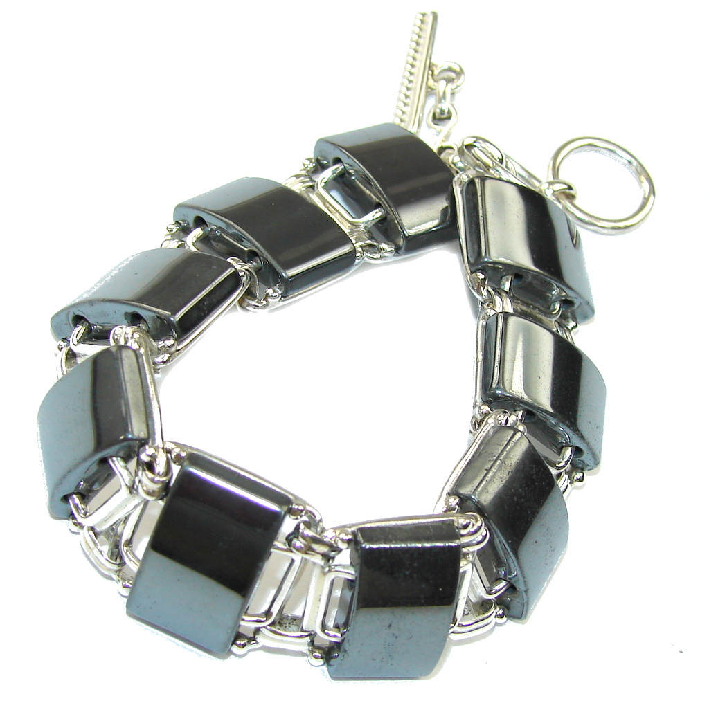 Just Perfect! Silver Hematite Sterling Silver Bracelet