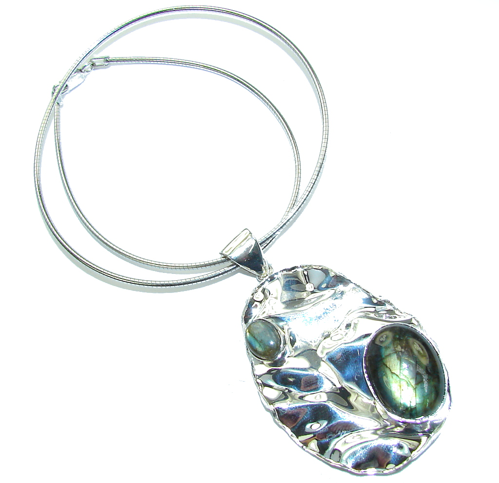 Amazing Style AAA labradorite Sterling Silver necklace