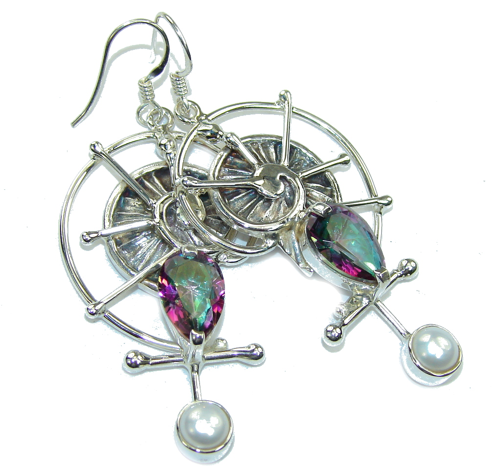 Beautiful Rainbow Magic Topaz Sterling Silver earrings