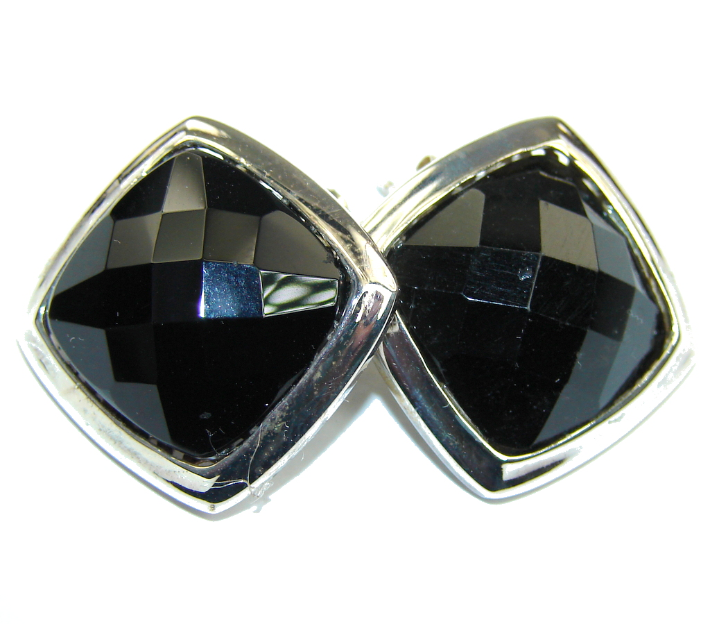 Fantastic Black Onyx Sterling Silver earrings
