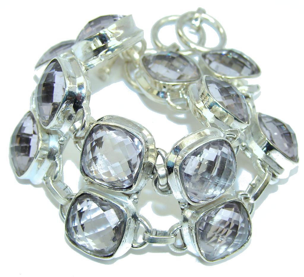 Real Treasure Pink Amethyst Sterling Silver Bracelet