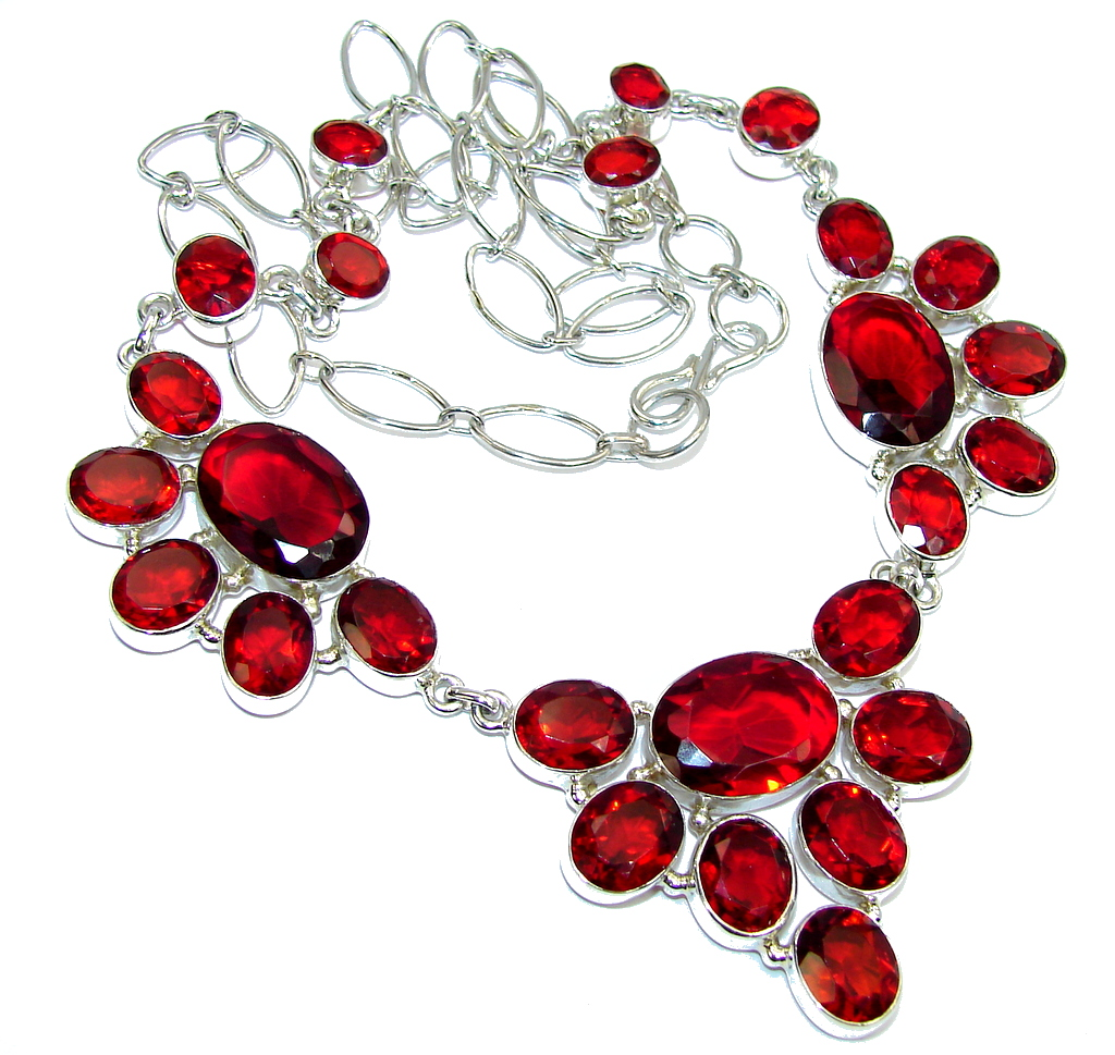 True Passion Red Quartz Sterling Silver necklace
