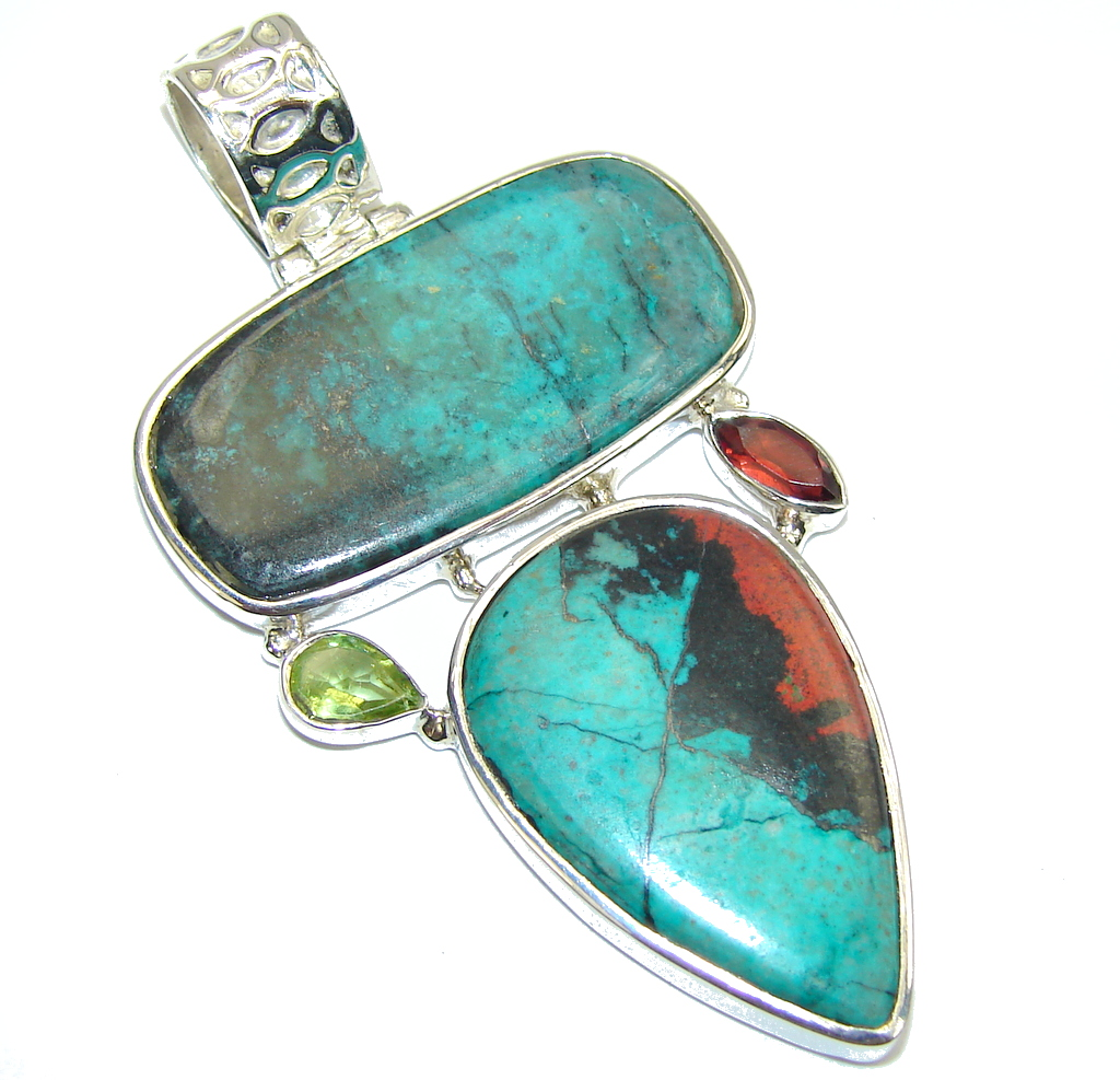 Awesome Red Sonora Jasper Sterling Silver Pendant