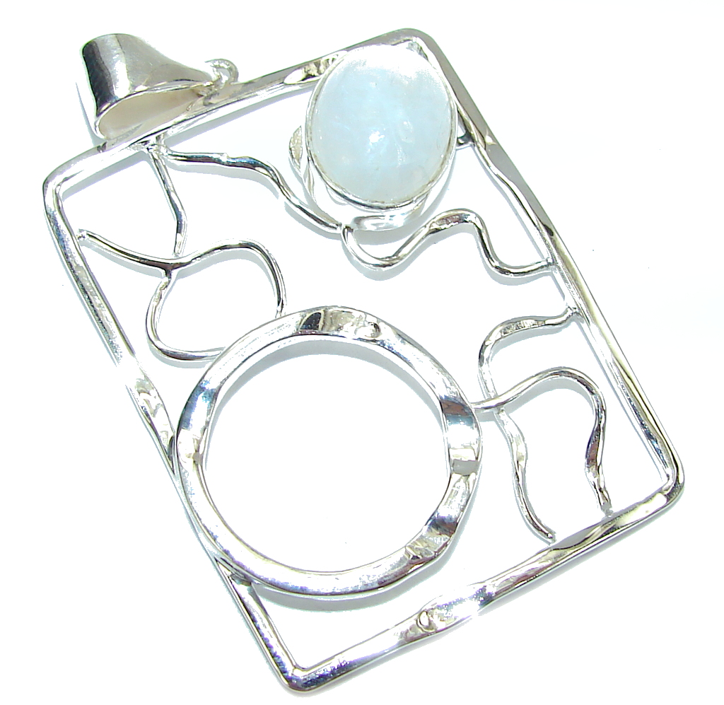 Delicate Beauty Moonstone Sterling Silver Pendant