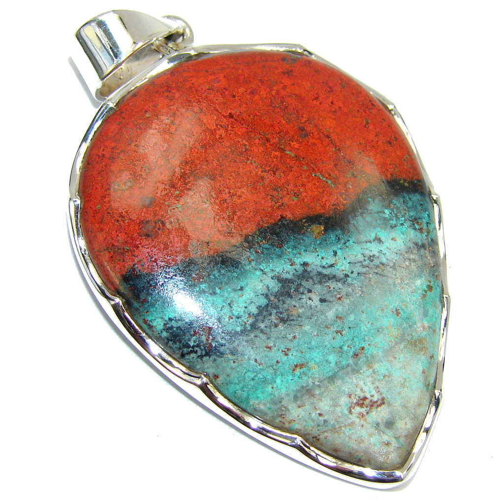Beautiful AAA Red Sonora Jasper Sterling Silver Pendant
