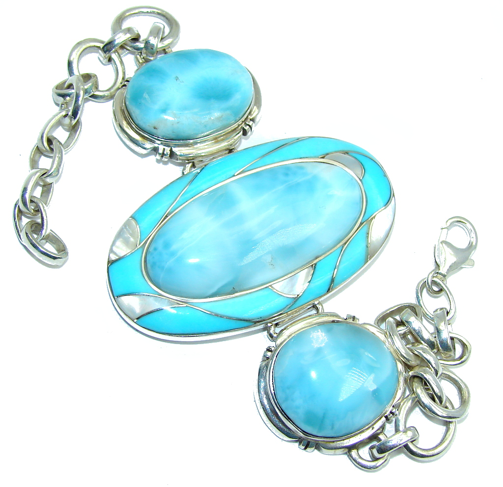 Genuine AAA Blue Larimar...