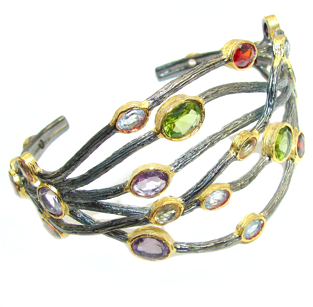 Genuine AAA Green Peridot, Garnet, Amethyst, Swiss Blue Topaz, Citrine, Gold..