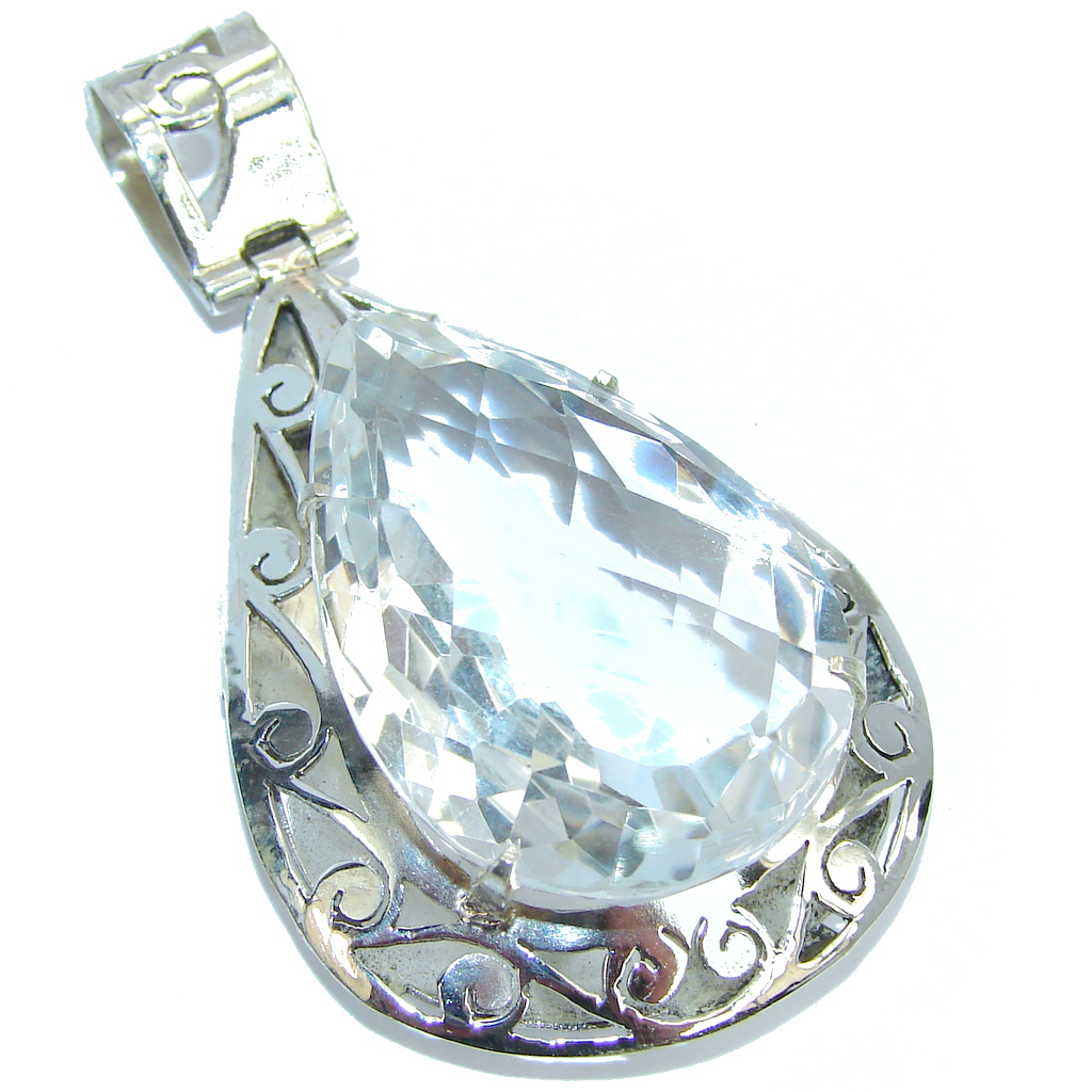Bali Secret White Topaz Sterling Silver Pendant