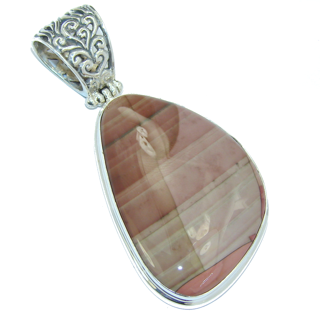 Amazing Style AAA Imperial Jasper Sterling Silver Pendant