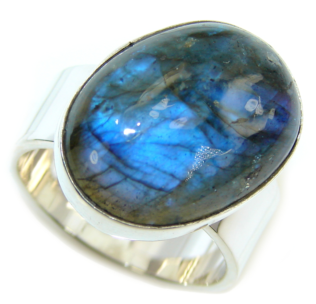 Just Perfect Fire Labradorite Sterling Silver ring s. 8