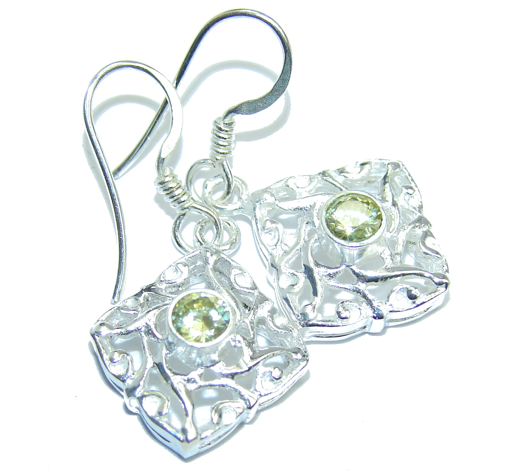 Amazing Peridot Sterling Silver Earrings