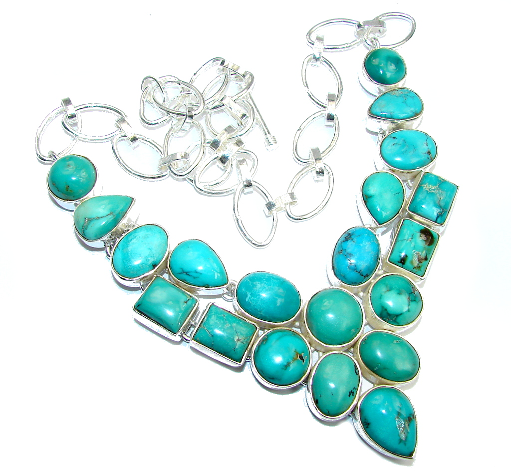 Great quality Corrico Lake Turquoise Sterling Silver Necklace