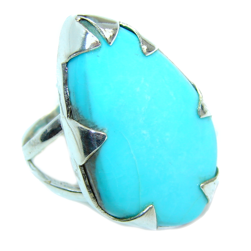 Amazing  AAA  Sleeping Beauty Turquoise Sterling Silver Ring s. 8 1/2