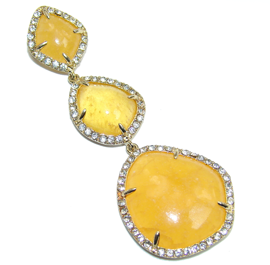 Genuine AAA Golden Calcite Gold Plated over Sterling Silver Pendant