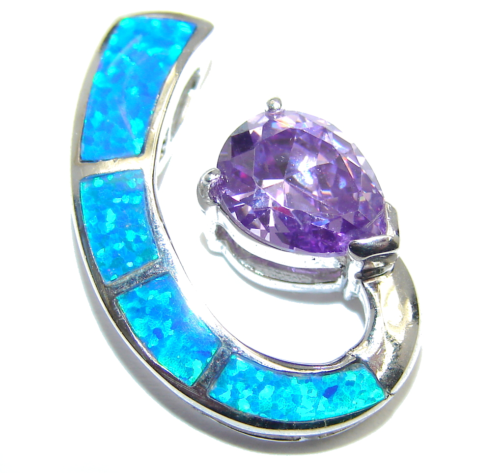Amazing AAA Japanese Fire Opal Sterling Silver Pendant