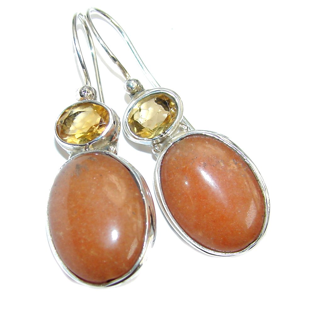 Sublime Calcite & Citrine Sterling Silver earrings