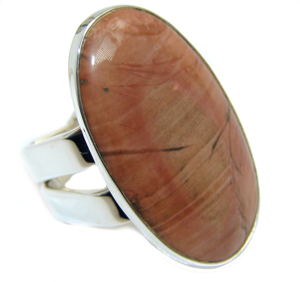 Amazing Imperial Jasper Sterling Silver Ring s. 7 1/4