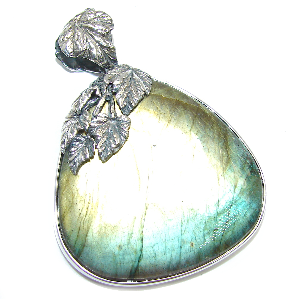 Just incredible Inner Fire Labradorite Hand Made Sterling Silver Pendant