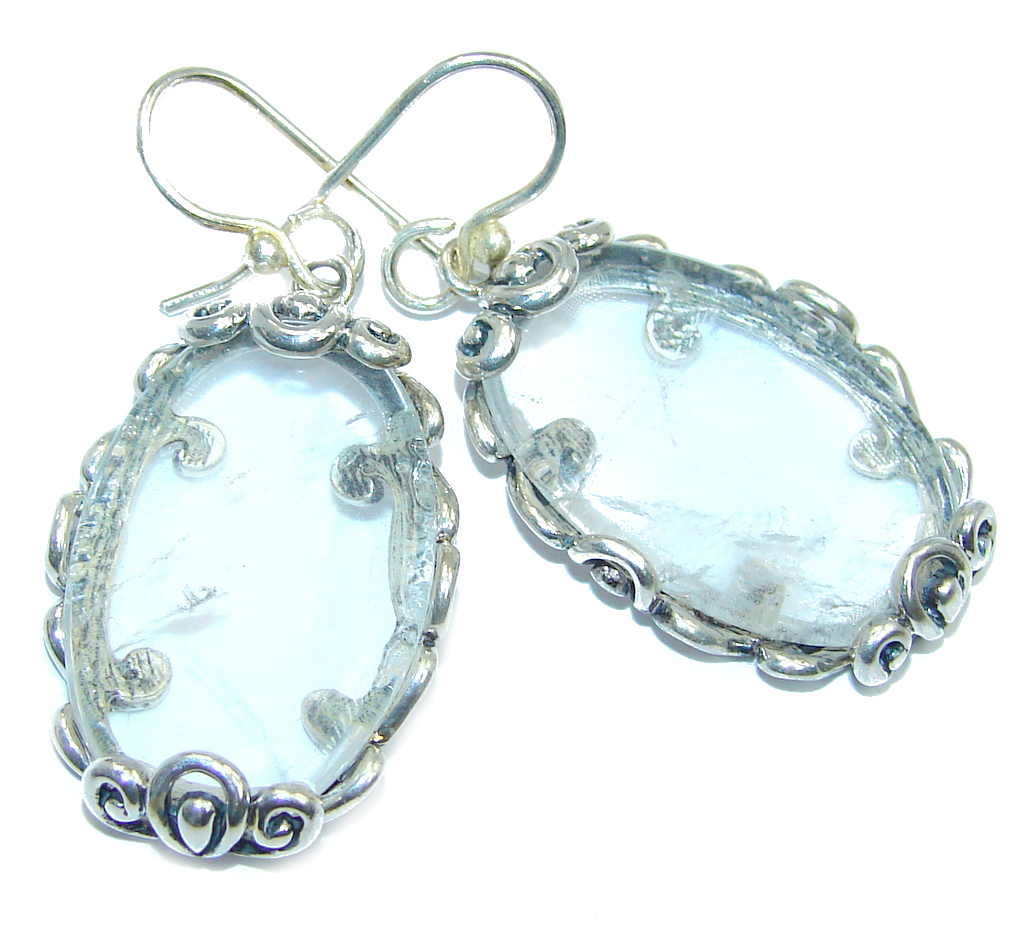 Beautiful White Topaz Sterling Silver earrings