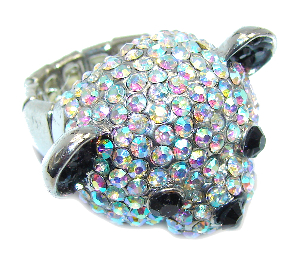 Shinny Bear Quartz Silver...