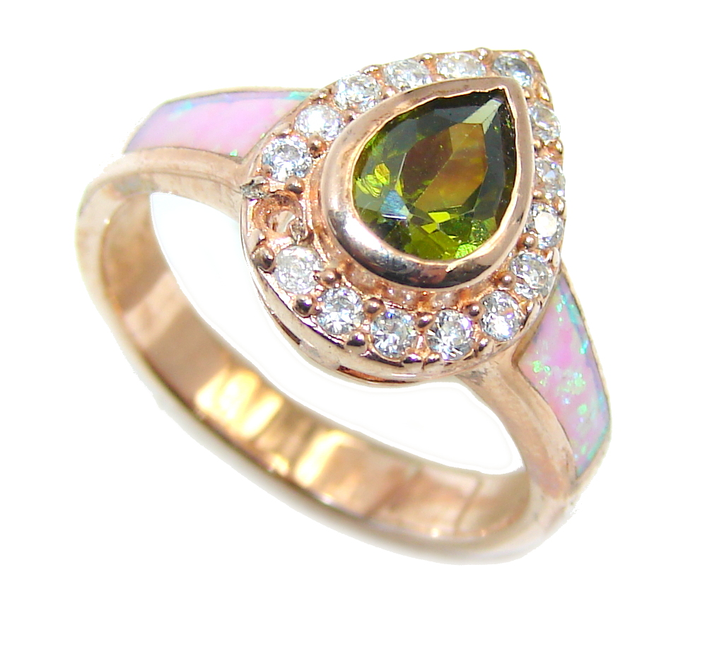 Sublime  AAA Cubic Zirconia Rose Gold Rhodium plated over Sterling Silver Ring size 6