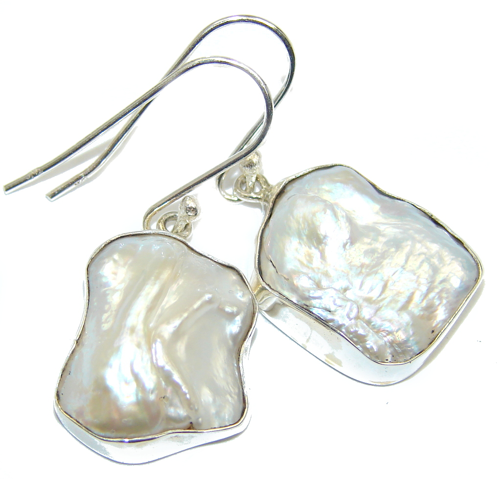 Classic Beauty Mother Of Pearl Sterling Silver earrings