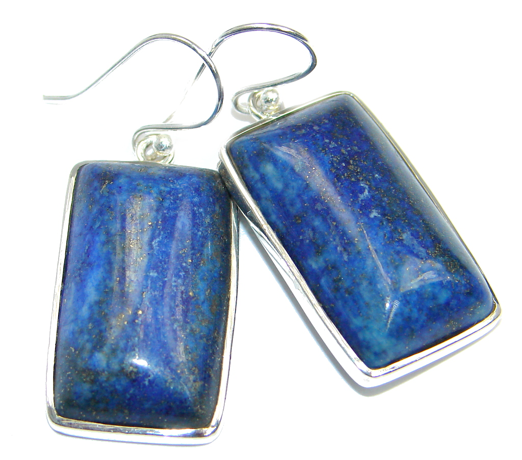 Handcrafted Blue Lapis Lazuli Sterling Silver earrings