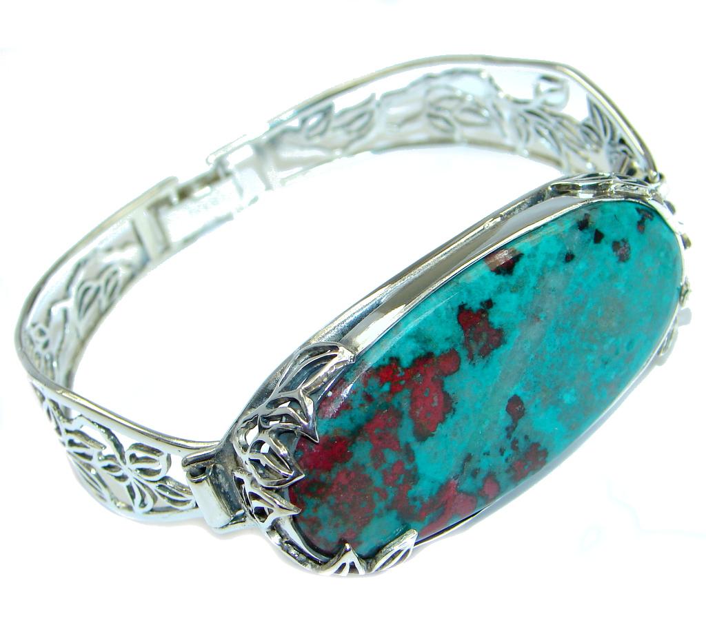 AAA + Sonora Jasper Sterling Silver handmade Bracelet / Cuff