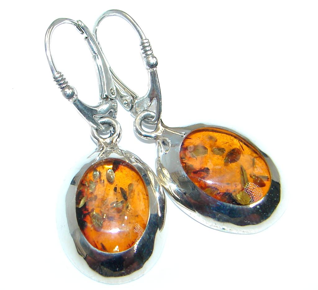 Classy Baltic Amber Sterling Silver earrings