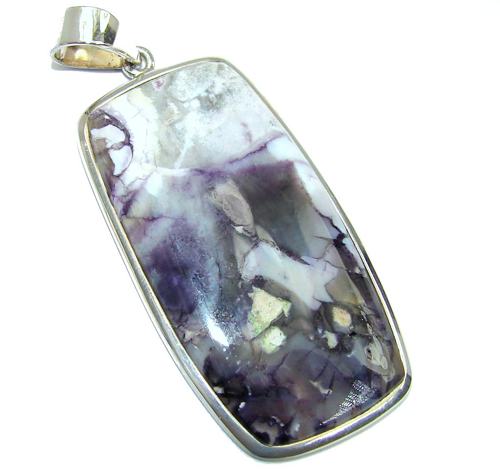 Amazing Beauty  Tiffany Jasper Sterling Silver handmade Pendant