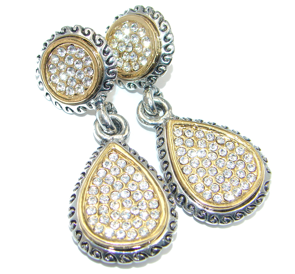 Exclusive White Topaz Two Tones Sterling Silver