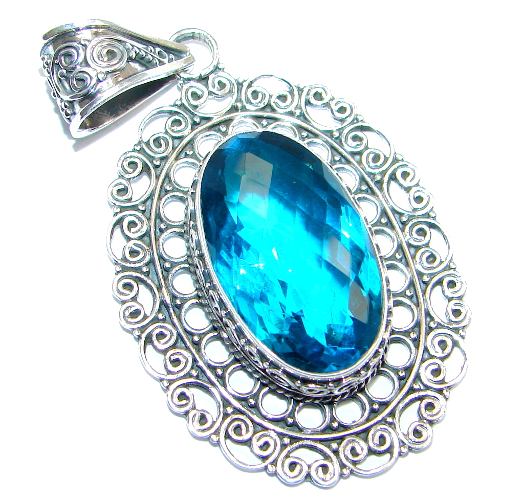 Sublime created Emerald   Sterling Silver handmade Pendant