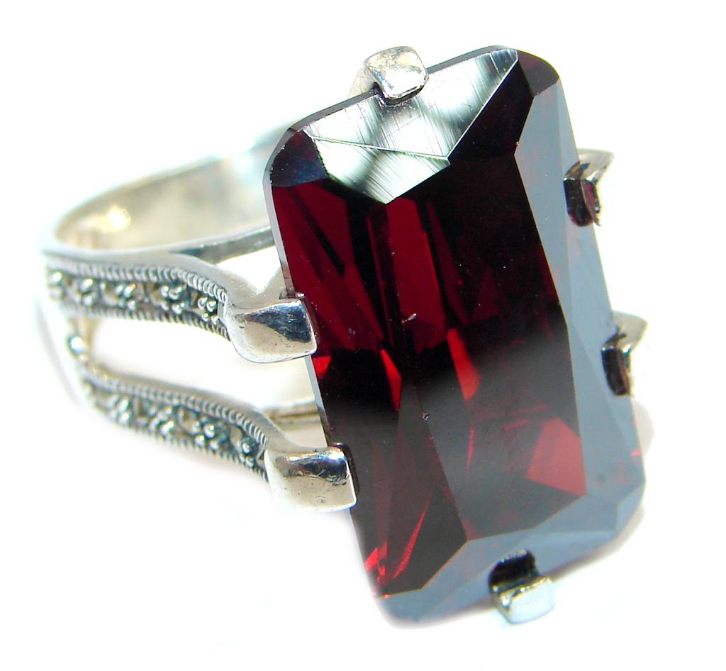 marcassite.com view the photo of  Great Cubic Zirconia Sterling Silver handcrafted Ring size 6
