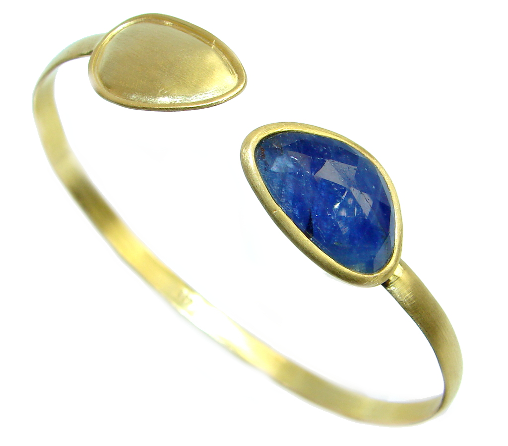 Luxury Sapphire Gold plated over Sterling Silver Bracelet