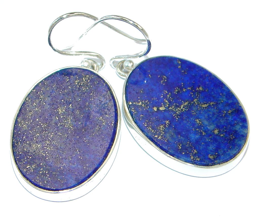 Handcrafted Genuine Lapis Lazuli Sterling Silver earrings