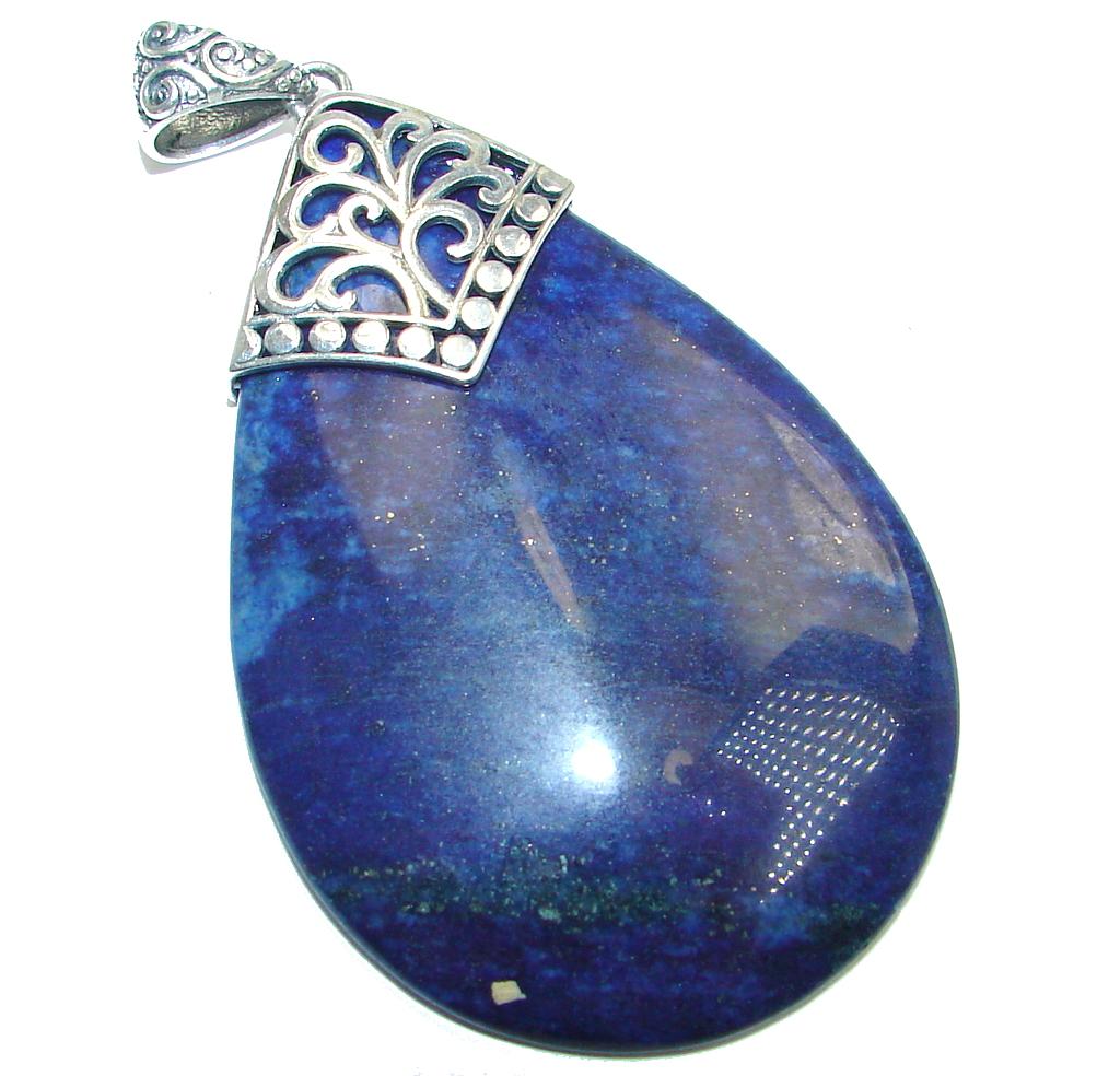 Great Lapis Lazuli Sterling Silver handmade Pendant