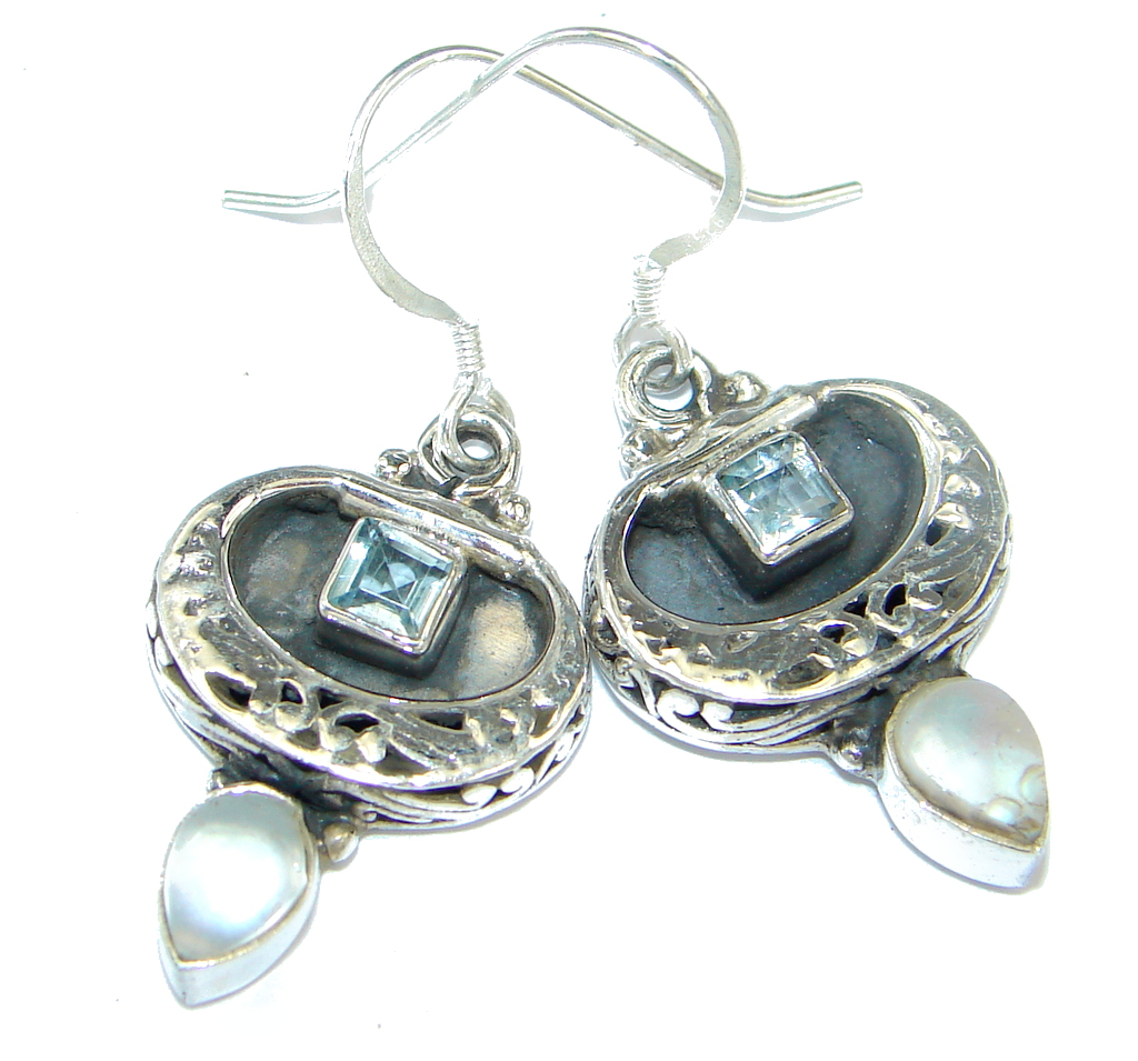 jewelpearl.com Fresh Water Pearl Ruby Sterling Silver earrings