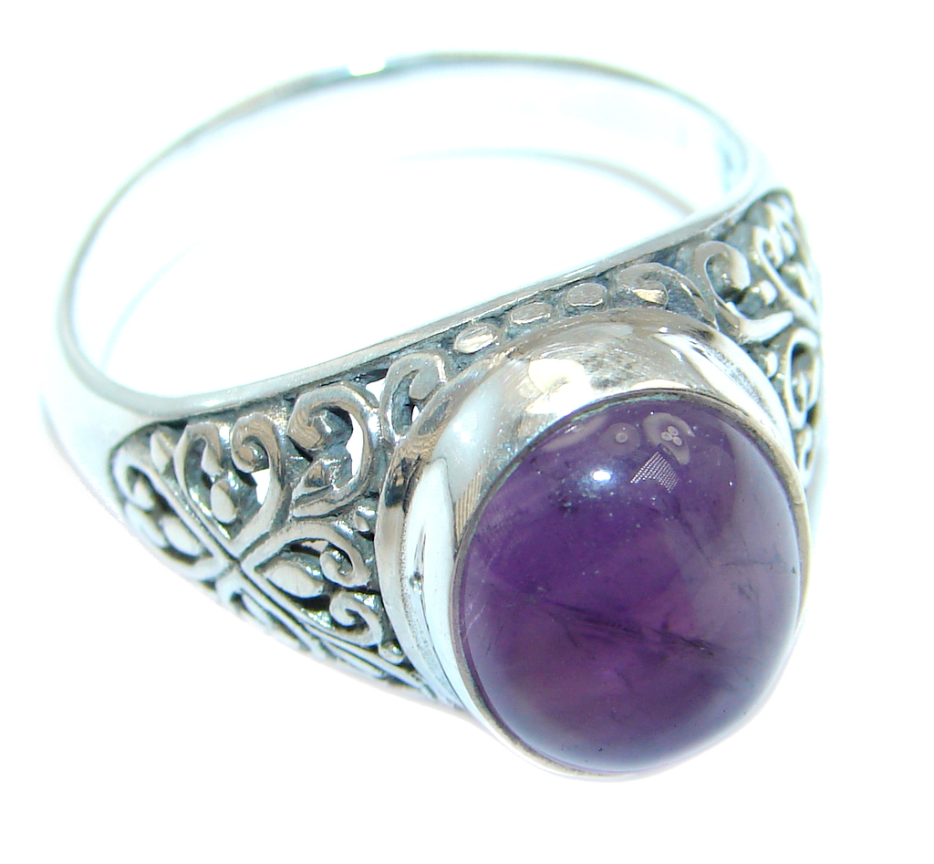 Amazing Amethyst Sterling Silver handmade Ring size 9