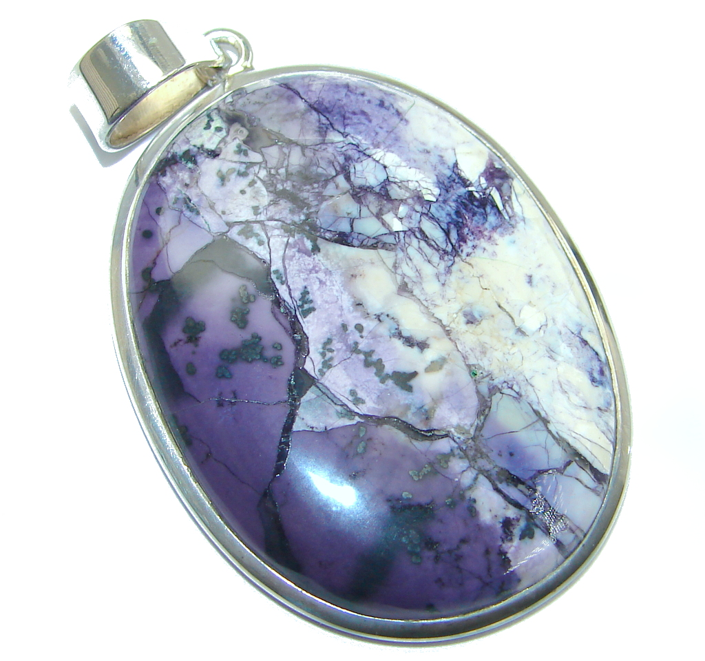 Amazing Beauty Tiffany Jasper Sterling Silver Pendant