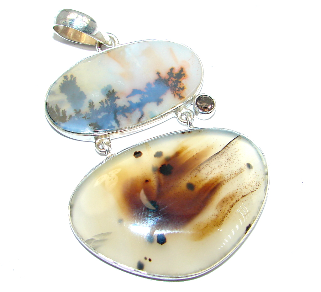 AAA quality Montana Agate Sterling Silver handcrafted Pendant