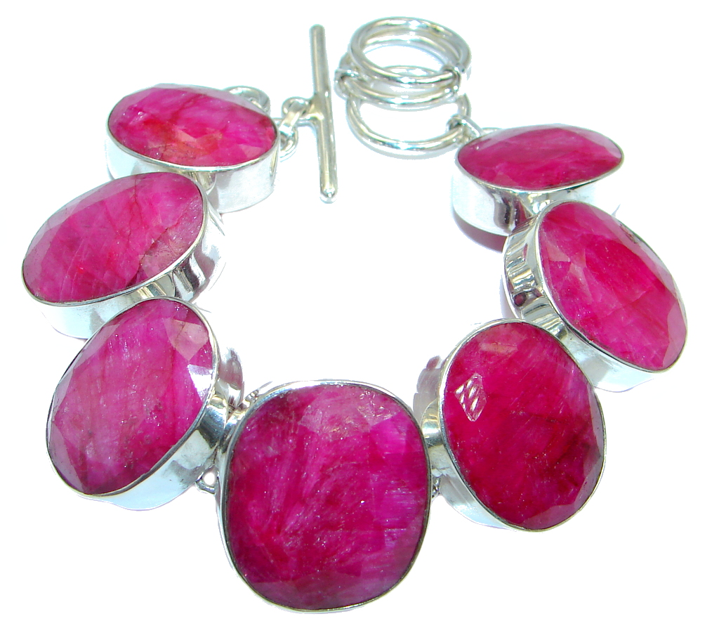 Great Red Ruby Sterling...