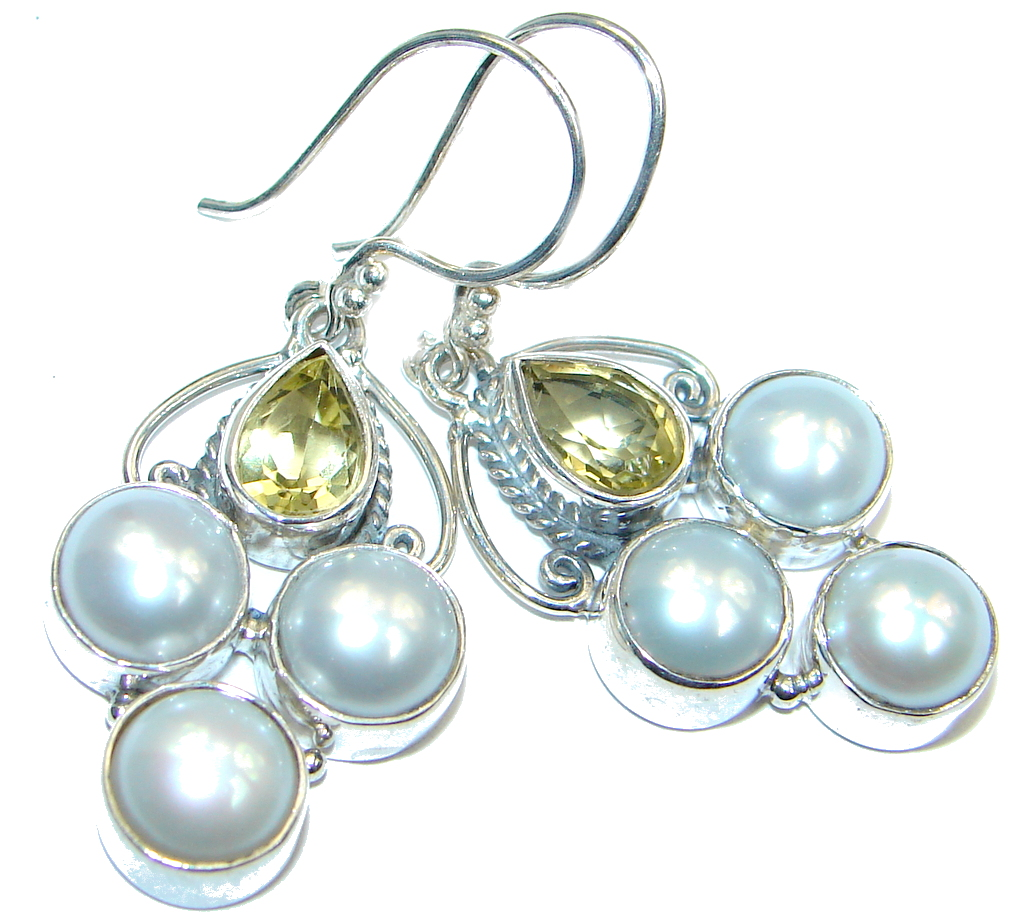 Fresh Water Pearl White Topaz Sterling Silver