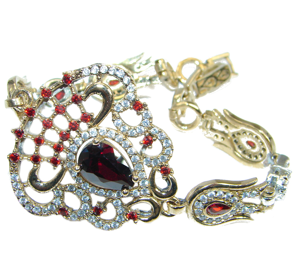Flawless Passion Red created Ruby Sterling Silver Bracelet