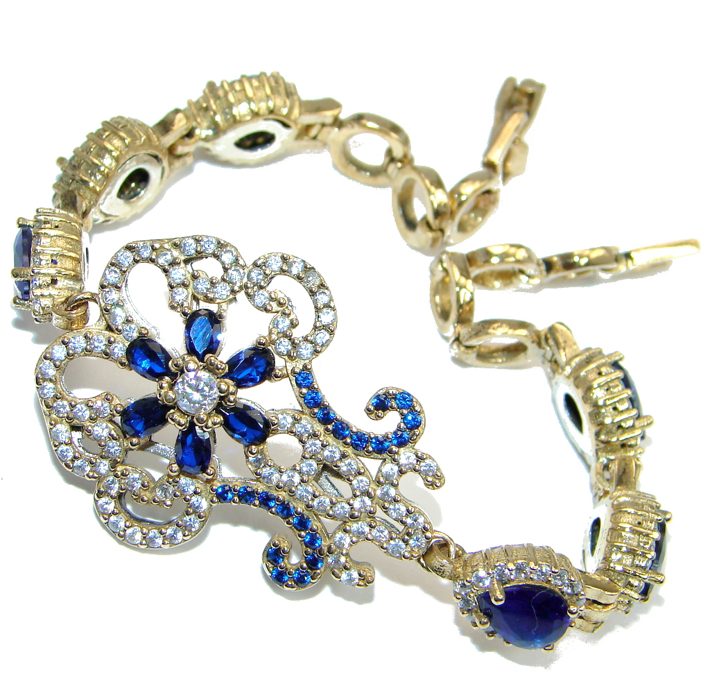 Special Item created Sapphire 925 Sterling Silver Bracelet