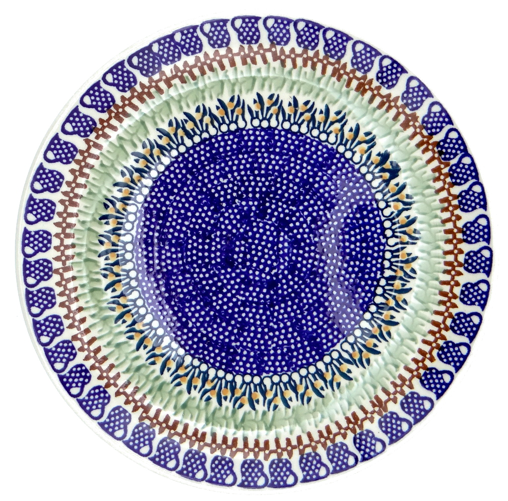 SilverrushStyle - Polish Pottery Large Dinner Plate - Cobalt Blue Collection 119821